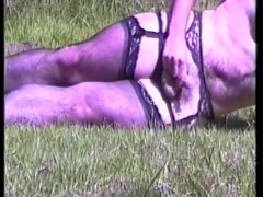 Stockings in the park