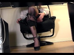 Leggy secretary under desk voyeur cam...