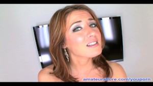 Petite Accountant Deep Throats Cock And Swallows
