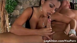 Girlfriend hungers for rock hard boner