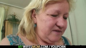 Huge granny is banged by her son in law