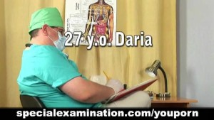 Nude gyno examination