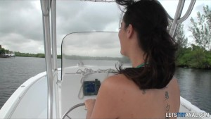 Sexy teen girlfriend getting ass fucked on the boat