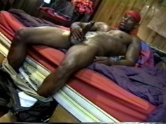 Picture Ebony muscle thug with huge cock