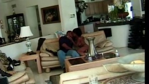 Black couple fucks on couch - Future Works