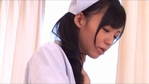 Nurse uniform asian gets tits out