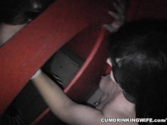 Amateur slut at the Adult Theater