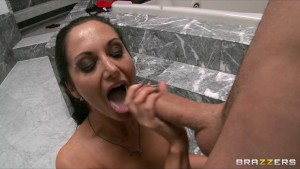 Sexy Busty ex-wife caught masturbating in shower is fucked anally