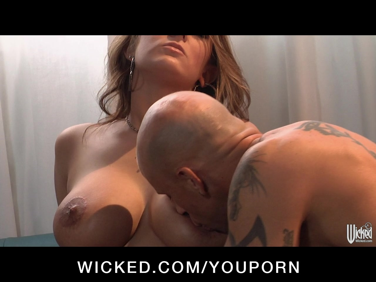 Horny Big-tit Blonde slut in heels is ass-fucked hard by big-dick