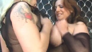 Mellie D & Cherry Big Tits Dildo Action