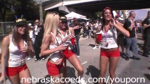 Gasparilla Pirate Flashing Girl Festival in Tampa