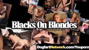Big Tit Blonde Fucks a Big Black Cock