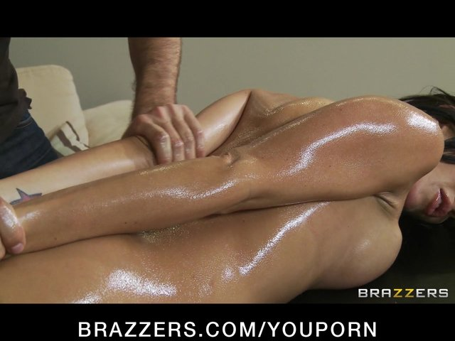 Our friend massages and seduces my horny wife