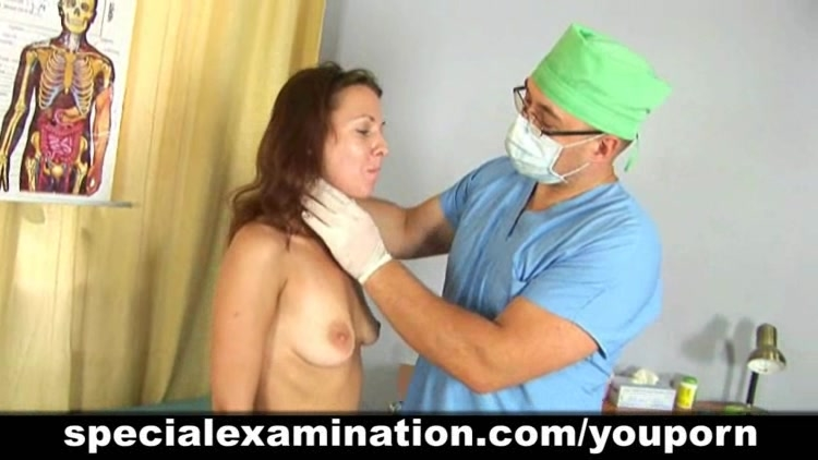 A very special gyno exam for hot young brunette babe 9
