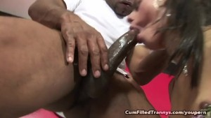 Shemale Jasmine Loves Jizz In Her Ass