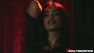 Hot brunette Latina stripper Selena Rose fucks client's big-dick