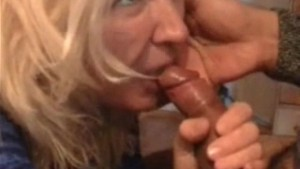 Mature amateur housewife full blowjob with cum in mouth