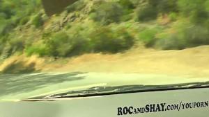 EBONY CAR FUCK TRIP !!