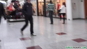 Sexy Czech teen redhead fucks sugar daddy's big-dick at the mall