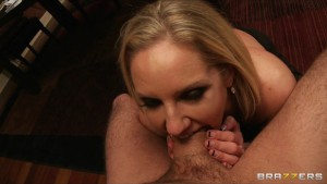 Big-boobed blonde MILF Zoe Holiday fucks her daughter's boyfriend
