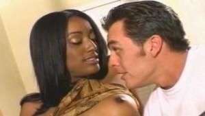 Pretty ebony chic popped by white dude