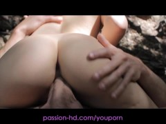 Passion-HD Petite Avrils Shaved Pussy Has Horny Orgasm