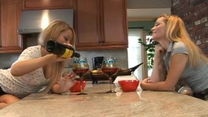 Hot Blondes Eating Pussy In The Kitchen