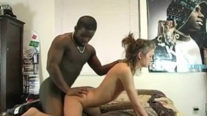 Blonde Gets Fucked By Big Black Cock