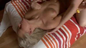 Fingering and hard fuck for a blonde