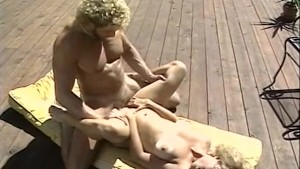 Married couple fuck near pool