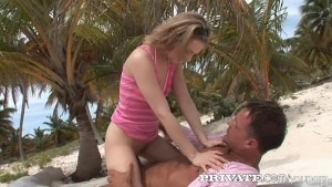 Private: Hard anal beach fuck