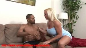 Horny blonde fucking with her black boyfriend