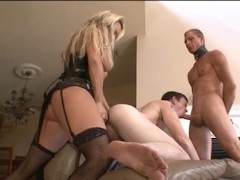 Picture Bisexual Husband and Wife with a Male Slave