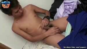 Asiaboy Jackky Stroking His Cock 2