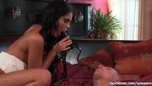 Defrancesca Gallardo gets her perfect cunt sucked hard