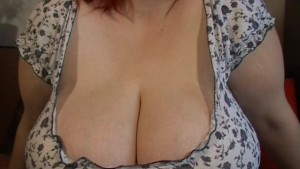 redhead monster breast babe