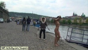 Crazy Nikol Vanilla naked on public streets
