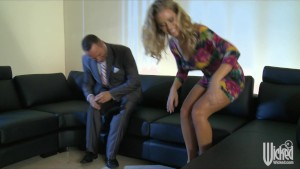 Gorgeous British blonde Nicole Aniston fucks her ex-boyfriend