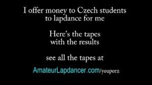 Sexy czech Leona lapdances and sucks dick