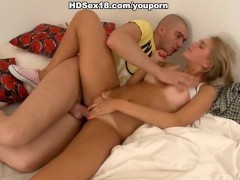 Picture Hot blonde fucks and eats sperm
