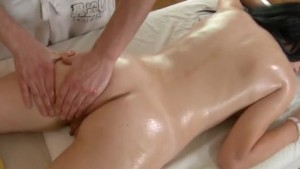 Brunette hot fucking after massage