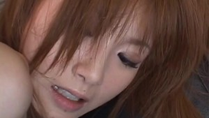 Horny Japanese teen Rika Sakurai double penetrated by toys
