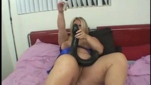 monster dildo deep in fat pussy
