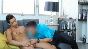 GayCastings Foot long dick smiles for the camera as that ass takes a huge load in his first audition