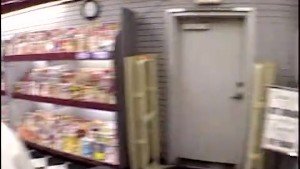 Fucked the horny chick in the porn shop