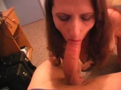 Gorgeous redhead getting on her knees - Rockman