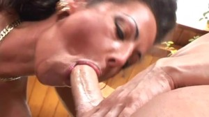 Naughty cougar in stockings and a big dick - Feline Films