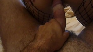 MILF in fishnets loves anal