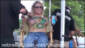 Earthday Birthday Body Painting