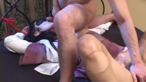 Uncensored Japanese Amateur Sex: Ripped Pantyhose Bondage Sex pt 2